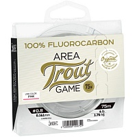 Леска Монофильная Lucky John Area Trout Game Fluorocarbon Pink 075/016